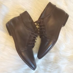 Nine West leather flat booties